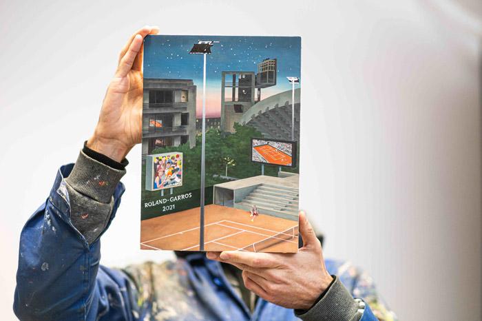 Affiche Roland Garros 2021 par Jean Claracq