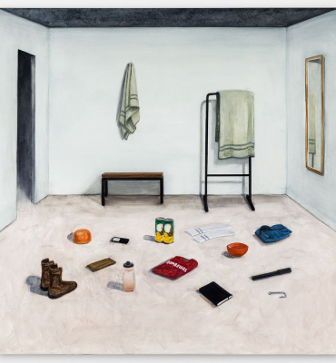 Yehonathan, 2019. Huile sur toile, 148 × 148 cm © Nathanaëlle Herbelin