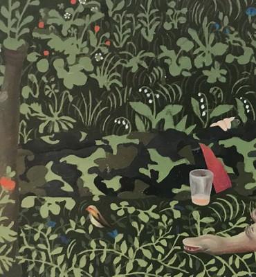 Propaganda, L'ouïe, 12,1x6 cm, huile sur bois, 2020 © Jean Claracq